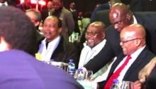 WATCH: Sdumo sits next to Zuma after apology for attending his birthday