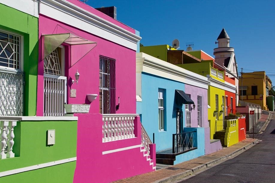 The colourful houses in Bo-Kaap.
