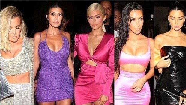 Screenshot: The Kardashian and Jenner sisters at Kylie's 21st party
