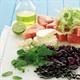 Watermelon, celery, feta and pumpkin seed salad