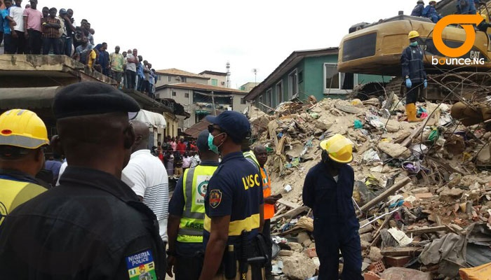 lagos 4-story building collapse.