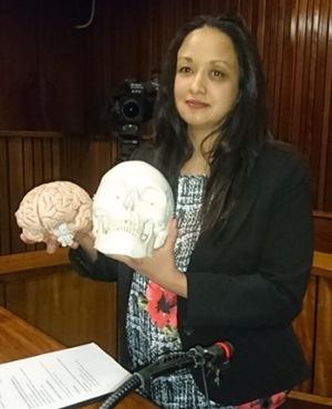 Forensic pathologist Dr Shakeera Holland. (Netwerk24)