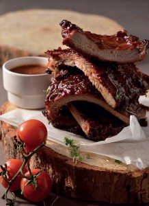 Sticky and spicy pork ribs