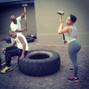 Thando-Thabethe gym