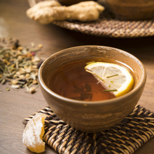 Mandatory Credit: Photo by REX/Shutterstock (4173052a) Ginger lemon tea in a tea bowl, candied and fresh ginger VARIOUS