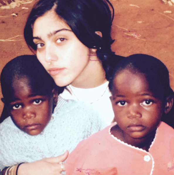 Madonna's daughter Lourdes with twins Esther and