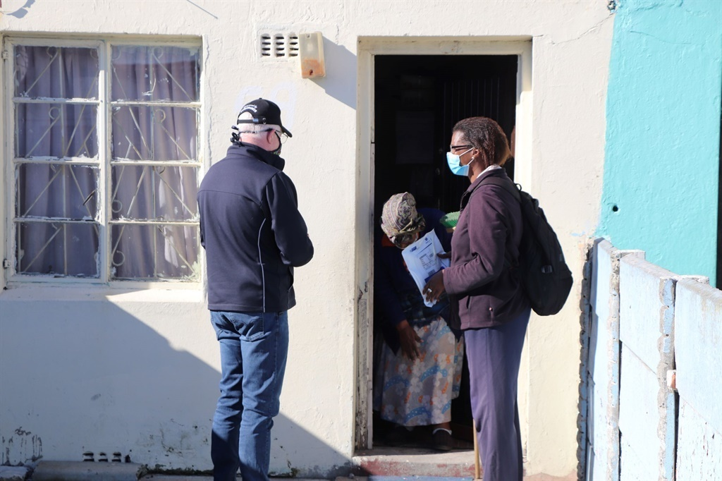 Premier Alan Winde accompanied community healthcare workers on medicine-delivery runs in Langa - part of the service to reach patients at their homes during the lockdown.