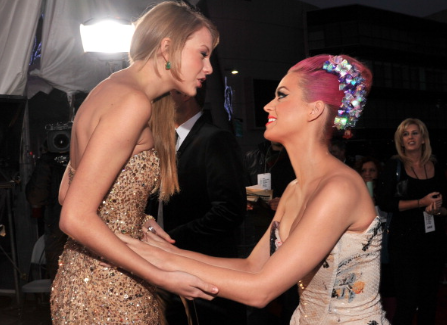Taylor Swift and Katy Perry, back in 2011 when the two stars were still friends.