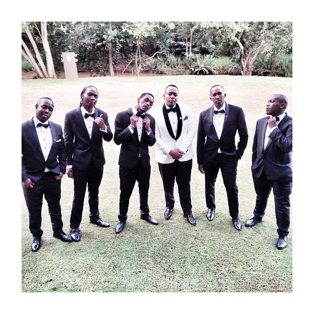shuga and groomsmen