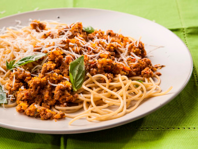 Spaghetti With Mince And Veg Drum