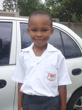 Xolani XJ Poto after his first day at school