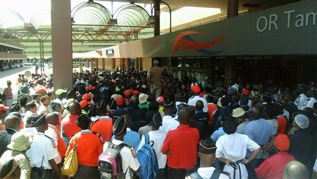 Unisa students have shut down the administrative building at the Sunnyside Campus Picture: Supplied.