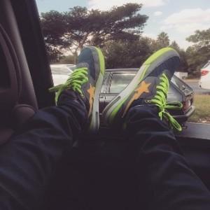 Grammy Award winning artist Chris Brown  cruising through the streets of Johannesburg.