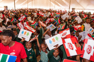 GHD_1 -Learners from Faranani and Basani Primary Schools in Soweto celebrate Global Handwashing Day 2015 with Lifebuoy