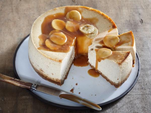 Banana caramel cheesecake
