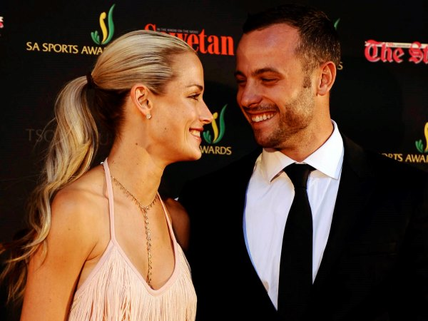 Oscar Pistorius and Reeva Steenkamp during the Our Nations Pride / SA Sports Awards Gala Dinner at Sandton Convention Centre on November 04, 2012 in Johannesburg, South Africa. PHOTO:Lefty Shivambu / Gallo Images