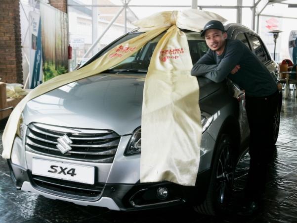 Lendl van Vuuren loves his sporty new ride. PHOTO: Provided