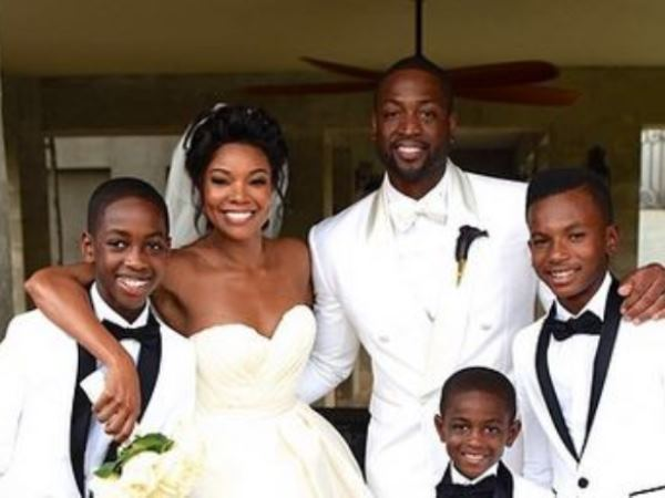 Gabrielle unions fairtytale wedding news24 it really was a wedding fit for a queen gabrielle union 41 wed her longtime boyfriend nba star dwayne wade 32 in a castle surrounded by a moat in junglespirit Gallery
