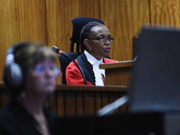 Judge Thokozile Masipa delivers judgment in the Oscar Pistorius murder trial at the High Court in Pretoria on Thursday, 11 September 2014. PHOTO: Phill Magakoe/Independent Newspapers/ Pool