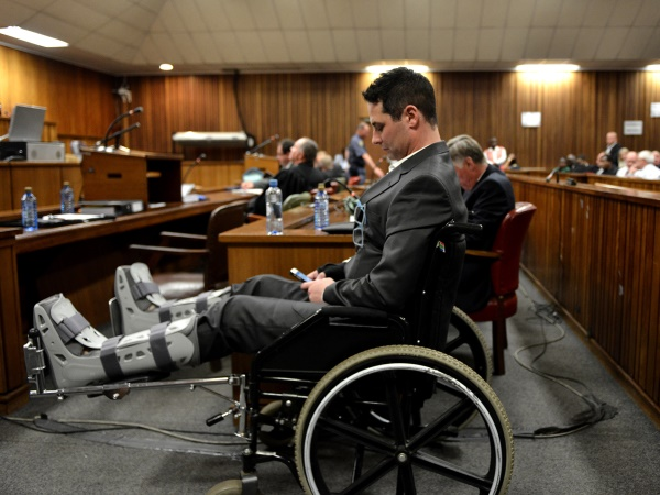 Carl Pistorius was injured in a car accident. PHOTO: Phill Magakoe/Independent Newspapers/ Pool