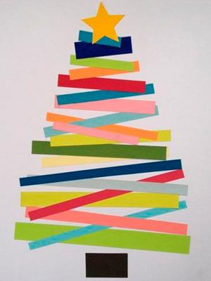 Paper strip tree