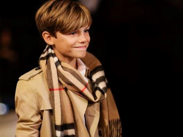 In the video, Romeo plays Cupid delivering the gift of love to a young couple. PHOTO: facebook.com/Burberry