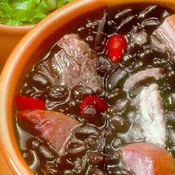 Black bean dish