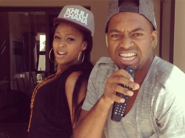Itumeleng Khune and Minnie Dlamini acting like they are Beyoncé and Jay-Z