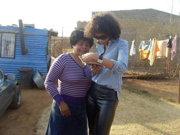 Berlinah pictured with her mother, Thoko Elizabeth Mtimkulu (70) together in South Africa in 2010. PHOTO: Supplied