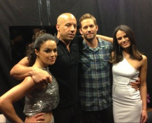 From left: Michelle Rodriguez, Vin Diesel, Paul and Jordanna Brewster