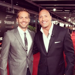 The Rock with Fast & Furious co-star Paul Walker