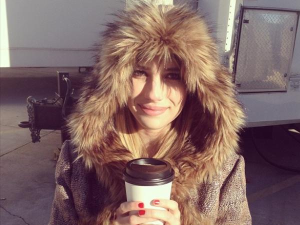 """Freezing day on set #ahs #coven"""