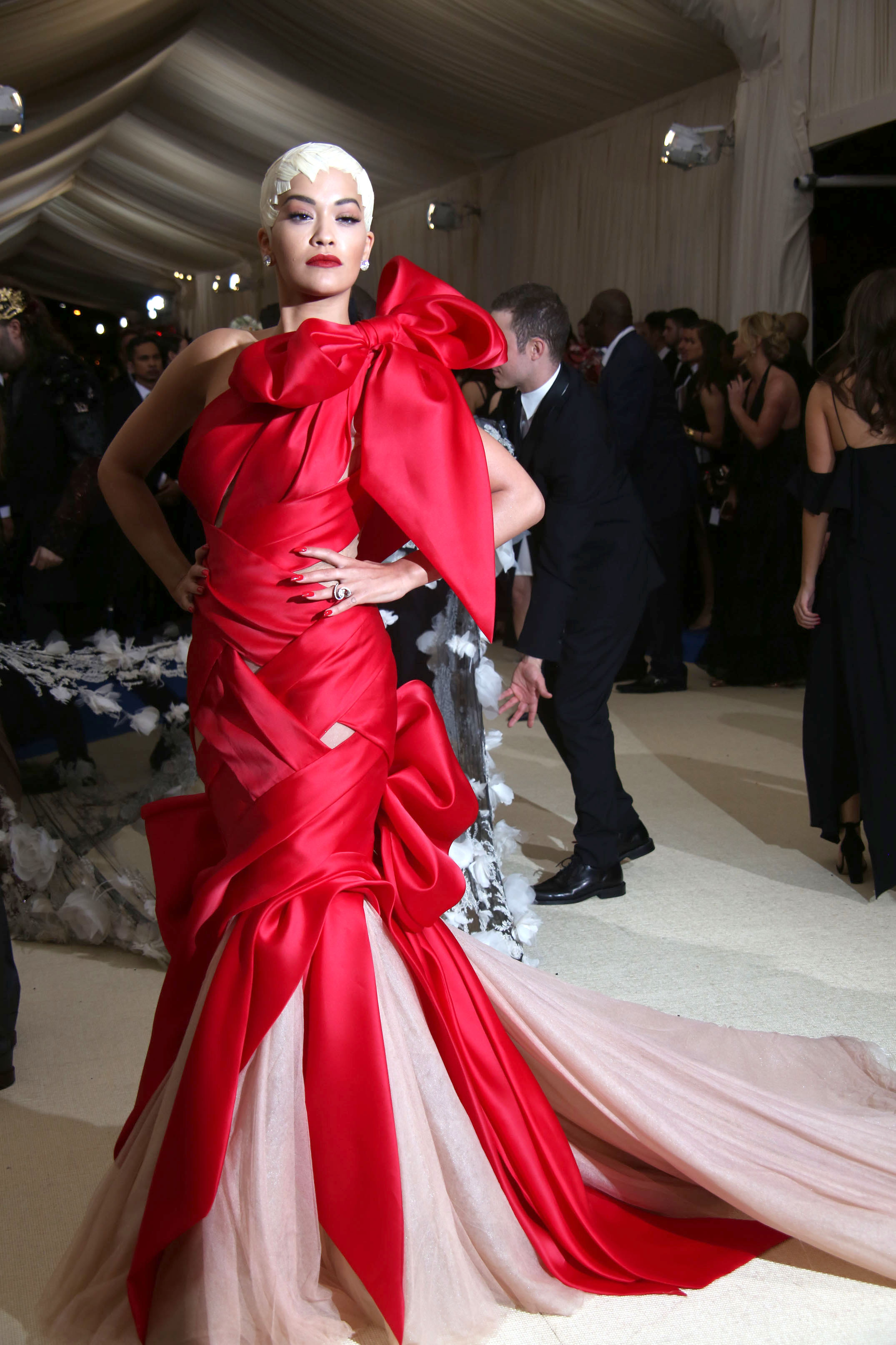 May 1, 2017 - New York, New York, U.S. - RITA ORA attends the Metropolitan Museum Costume Institute Benefit celebrating the exhibition of Rei Kawakubo/Comme des Garcons-Art of the In Between.Met Museum,NYC.May 1, 2017.Photos by , Photos Inc. (Credit: © Globe-ZUMA