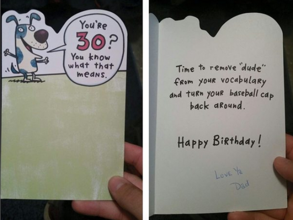 Man Surprised With Birthday Card From Father Who Passed Away 16 Years Ago
