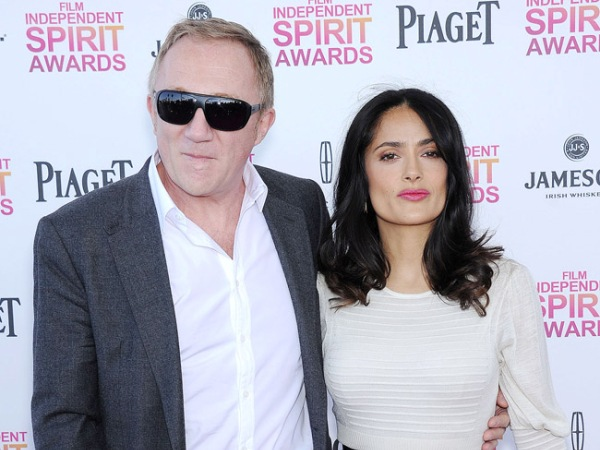 Salma Hayek & Francois-Henri Pinault. PHOTO: Bang Showbiz