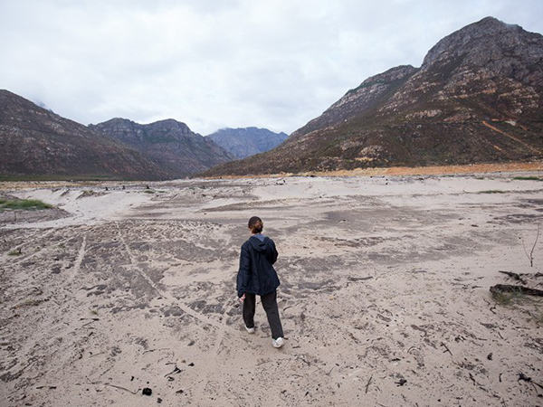 The Berg River is so dry in places that you can walk across it. Photo: Ashraf Hendricks