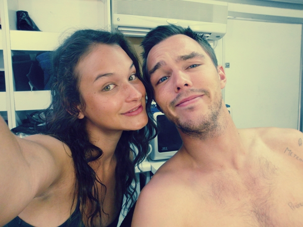 With Nicholas Hoult