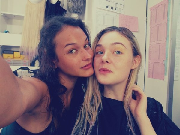 With Elle Fanning