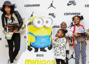 Actress, Dineo Ranaka turned the outing into a family affair and says that having her two kids, Kopano (2) and Kgosi (5) as well as her niece, Naledi (7) with, there was no turning down an opportunity to see the film together
