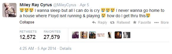 Miley tweet 1