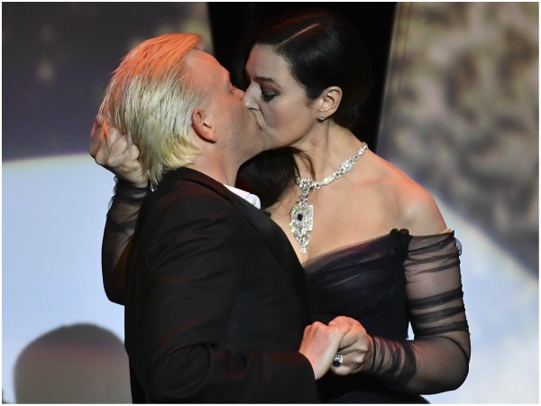 PHOTO: Italian actress and master of ceremonies Monica Bellucci (R) and French comedian Alex Lutz - Getty Images