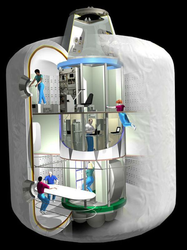 How an inflatable working space could look like.