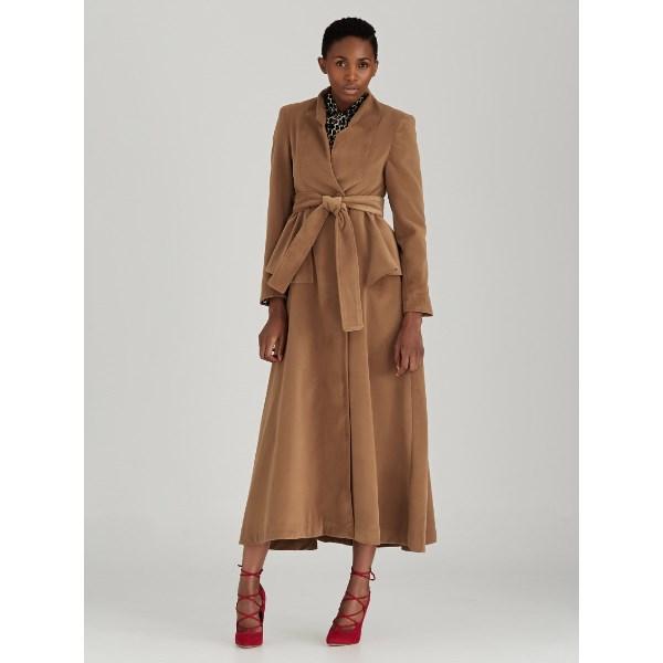 SOBER peplum coat