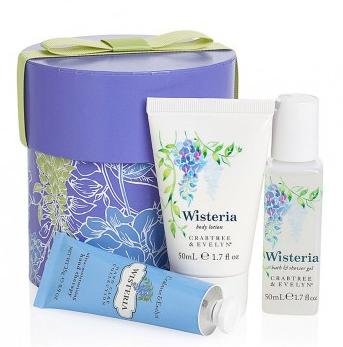 CRABTREE & EVELYN Wisteria Mini Hatbox R400.00