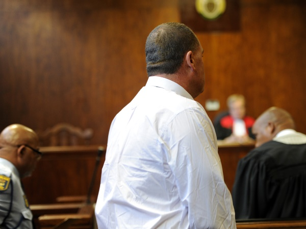 The accused pictured in the Springs Magistrate's Court on Wednesday, 4 June 2014. Werner Beukes/SAPA