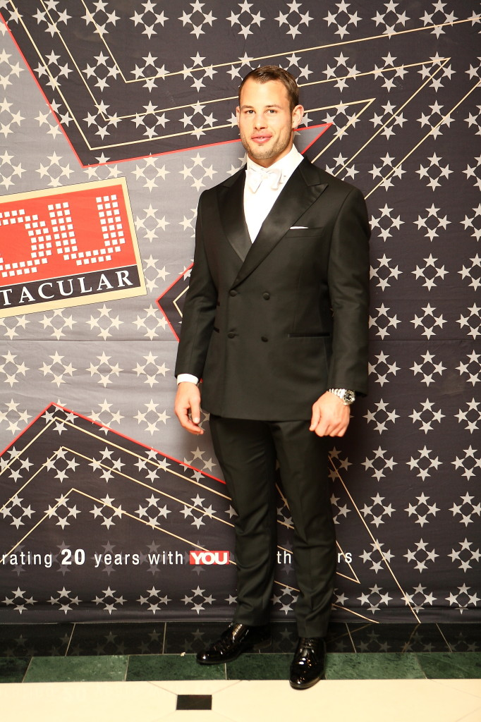 He cleans up good! Francois Hougaard looked dapper in his suit. PHOTO: Mduduzi Nzingi