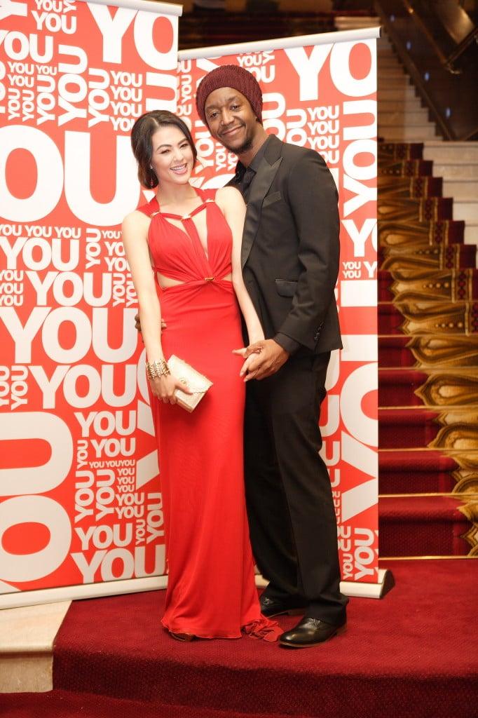 2014 Sexiest Womam nominee Lalla Hirayama and her beau Chris. PHOTO: Mduduzi Nzingi