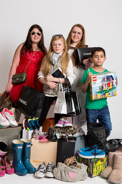 "Lauren Welsh, top right, spends over R11 000 a month on designer clothing. She features on Channel5's ""The 12 Year Old Shopaholic, and Other Big Spending Kids""."