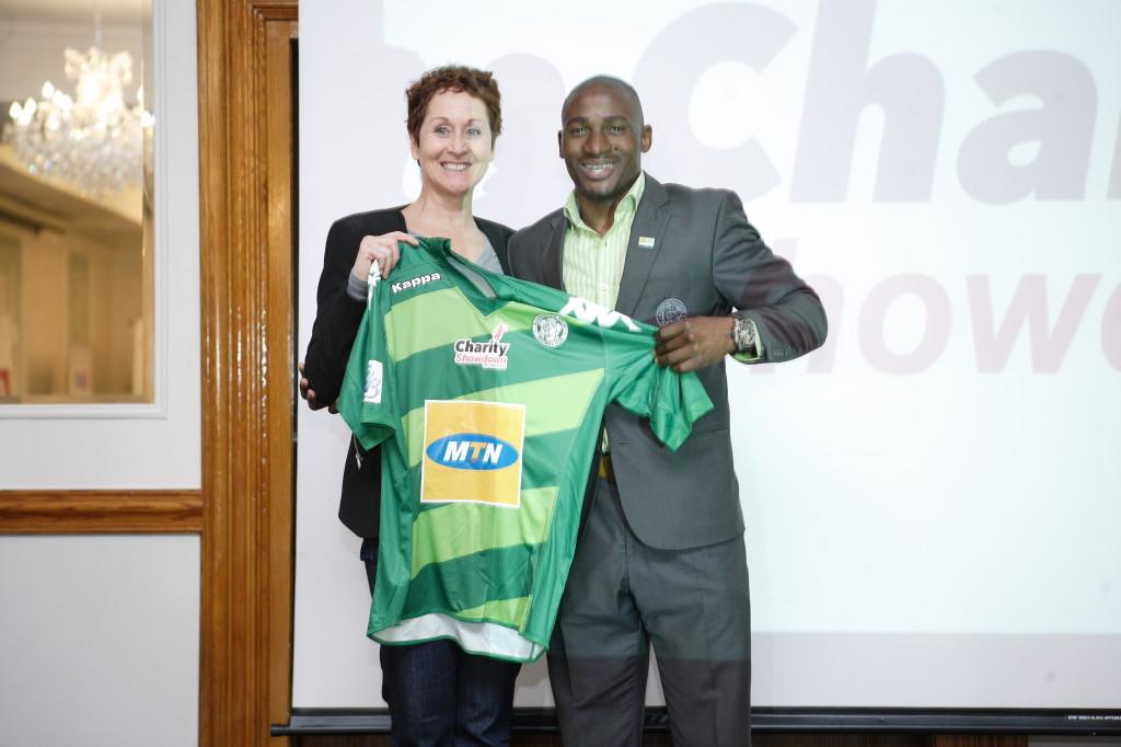 COO for Bloemfontein Celtic, Chabeli Motsamai is all smiles with his team's new kit. PHOTO: MduduziI Ndzingi