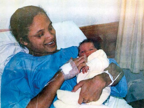 Newborn Zephany and her birth mother Celeste soon after she was born. PHOTO: Supplied